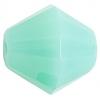 Fire polished 15mm Bicone Green Aqua Opal Natural Strung